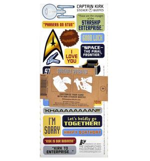 Captain Kirk - Star Trek Greeting Card With Sticker Sheet Thumbnail 3