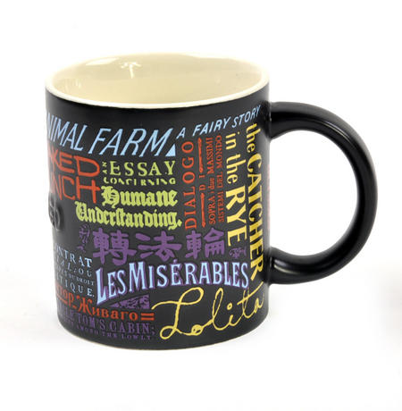 Banned Books Mug  - Lady Chatterley, Animal Farm, Les Miserables, Lolita, Naked Lunch etc
