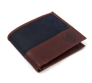 Charcoal Wax Canvas & Leather Credit Card Wallet Thumbnail 5