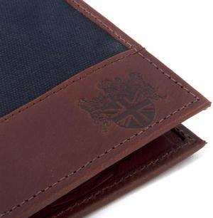 Charcoal Wax Canvas & Leather Credit Card Wallet Thumbnail 6