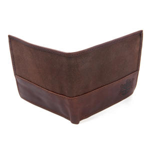 Brown Wax Canvas & Leather Credit Card Wallet Thumbnail 3