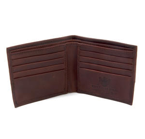 Brown Wax Canvas & Leather Credit Card Wallet Thumbnail 4