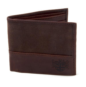 Brown Wax Canvas & Leather Credit Card Wallet Thumbnail 5