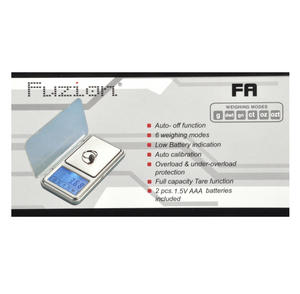 FA500 Fuzion Digital Pocket Scale Thumbnail 2