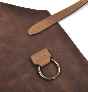 Mr. Smith Cheese Apron - Brown Leather Culinary Apron by Boska Thumbnail 3