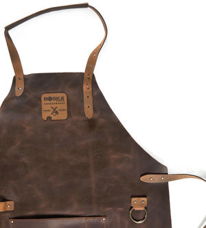 Mr. Smith Cheese Apron - Brown Leather Culinary Apron by Boska Thumbnail 6