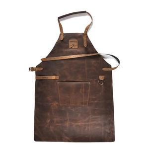 Mr. Smith Cheese Apron - Brown Leather Culinary Apron by Boska Thumbnail 8