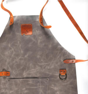Mr. Smith Cheese Apron - Grey Leather Culinary Apron by Boska Thumbnail 2