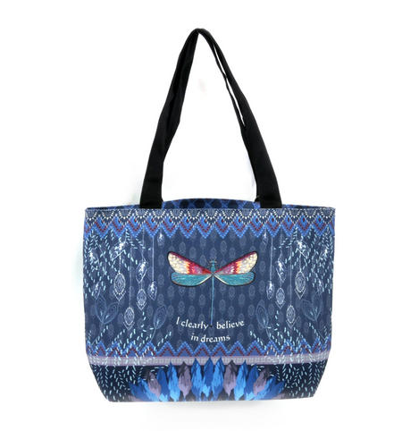 Dragonfly / La Libellule - I Clearly Believe in Dreams - Curiosités Sauvages Bag Shopper