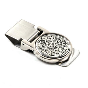 Celtic Triple Swirl Money Clip - Revised Design Thumbnail 3