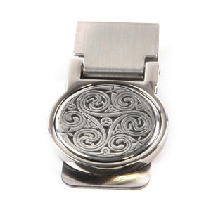 Celtic Triple Swirl Money Clip - Revised Design Thumbnail 4