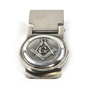 "Masonic ""G"" Money Clip - Revised Design Thumbnail 3"