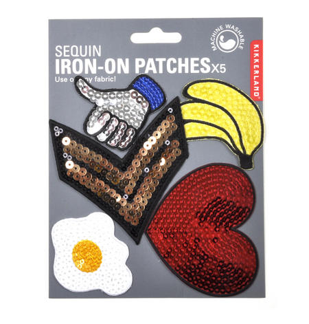 Sequins Iron-On Patches x5