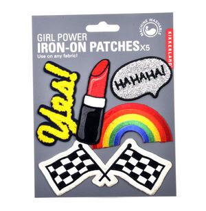 Girl Power Iron-On Patches x5 Thumbnail 1