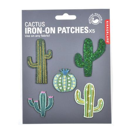 Cactus Iron-On Patches x5