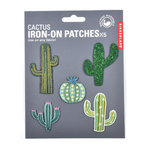 Cactus Iron-On Patches x5 Thumbnail 1