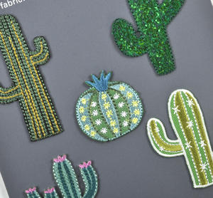 Cactus Iron-On Patches x5 Thumbnail 2