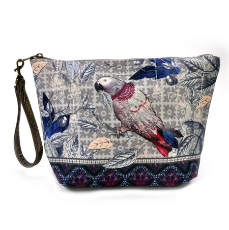Le Perroquet / Parrot Make Up Bag / Grande Trousse