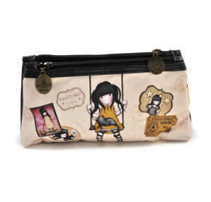 Gorjuss Vacation - Ruby (Yellow)  Double Pencil Case Thumbnail 1