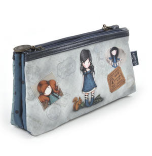 Gorjuss Vacation - You Brought Me Love  Double Pencil Case Thumbnail 3