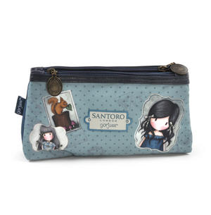 Gorjuss Vacation - You Brought Me Love  Double Pencil Case Thumbnail 4