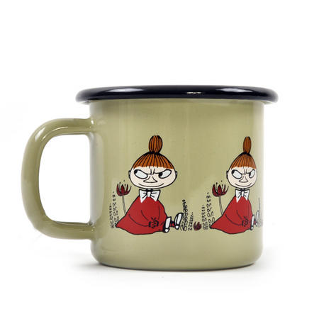 Little My - Green Moomin Muurla Enamel Mug - 1.5 cl
