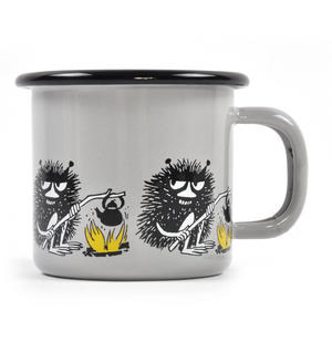 Stinky - Grey Moomin Muurla Enamel Mug - 1.5 cl Thumbnail 2