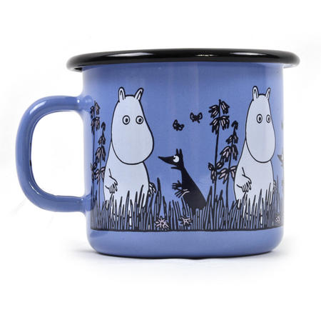 Moomin - Blue Moomin Muurla Enamel Mug - 2.5 cl