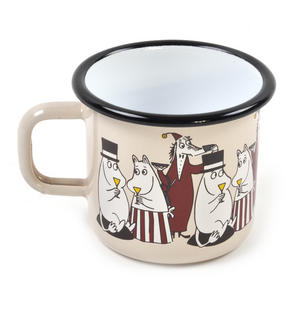 Moomin Friends - Fillyjonk - Cream Moomin Muurla Enamel Mug - 37 cl Thumbnail 2