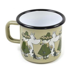 Moomin Friends - Snufkin & Sniff Green Moomin Muurla Enamel Mug - 37 cl Thumbnail 2