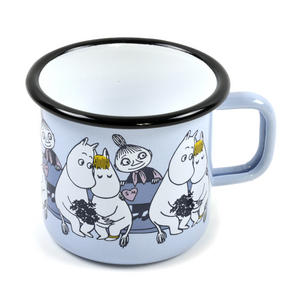 Moomin Friends - Mymble Blue Moomin Muurla Enamel Mug - 37 cl Thumbnail 2