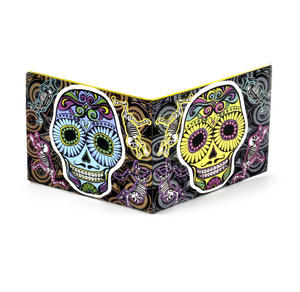 Sugar Skull Mexican Day of the Dead Sonic Wallet - Tough Tyvek Wallet with Sound Effects
