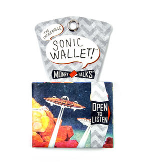 Unidentified Flying Objects Sonic Wallet - Tough Tyvek UFO Wallet with Sound Effects Thumbnail 4