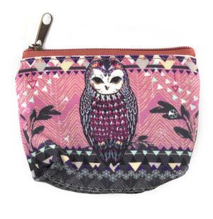 Owl / La Chouette Curiosités Sauvages Coin Purse Thumbnail 1