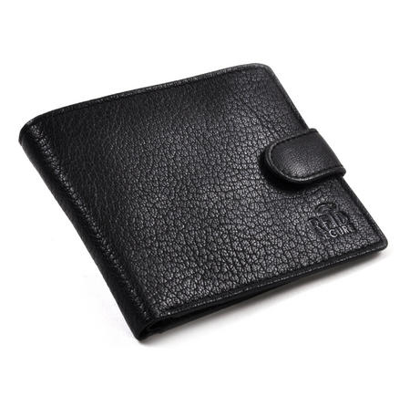 RFID Black Leather Wallet with Secure Lining Preventing Data Theft