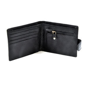 RFID Black Leather Wallet with Secure Lining Preventing Data Theft Thumbnail 3