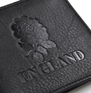 England Black Embossed Leather Wallet with Coin Compartment Thumbnail 2