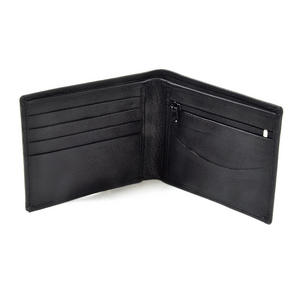 England Black Embossed Leather Wallet with Coin Compartment Thumbnail 3