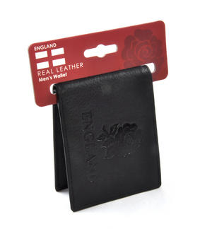 England Black Embossed Leather Wallet with Coin Compartment Thumbnail 4