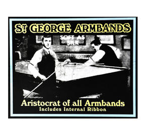 St. George Armbands - Rhodium Plated Classic Cuff Management With Internal Ribbon Thumbnail 3