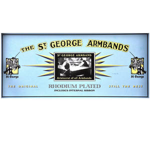 St. George Armbands - Rhodium Plated Classic Cuff Management With Internal Ribbon Thumbnail 4