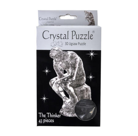 3D Crystal Puzzle - The Thinker