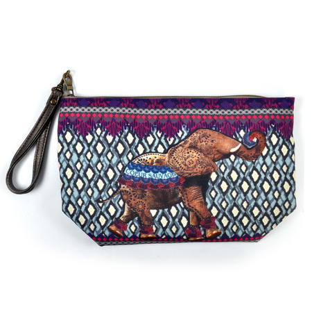 Elephant Curiosités Sauvages Make Up Bag / Grande Trousse