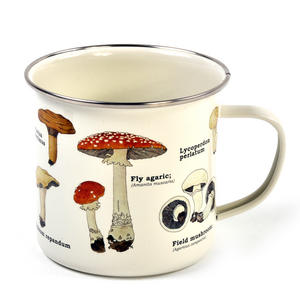 Mushrooms Encyclopaedia Enamel Mug Thumbnail 3