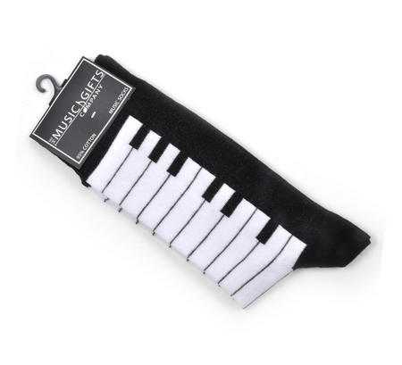 Piano Keys Keyboard Socks for Composer / Musician / Choir (Size 6 - 11)