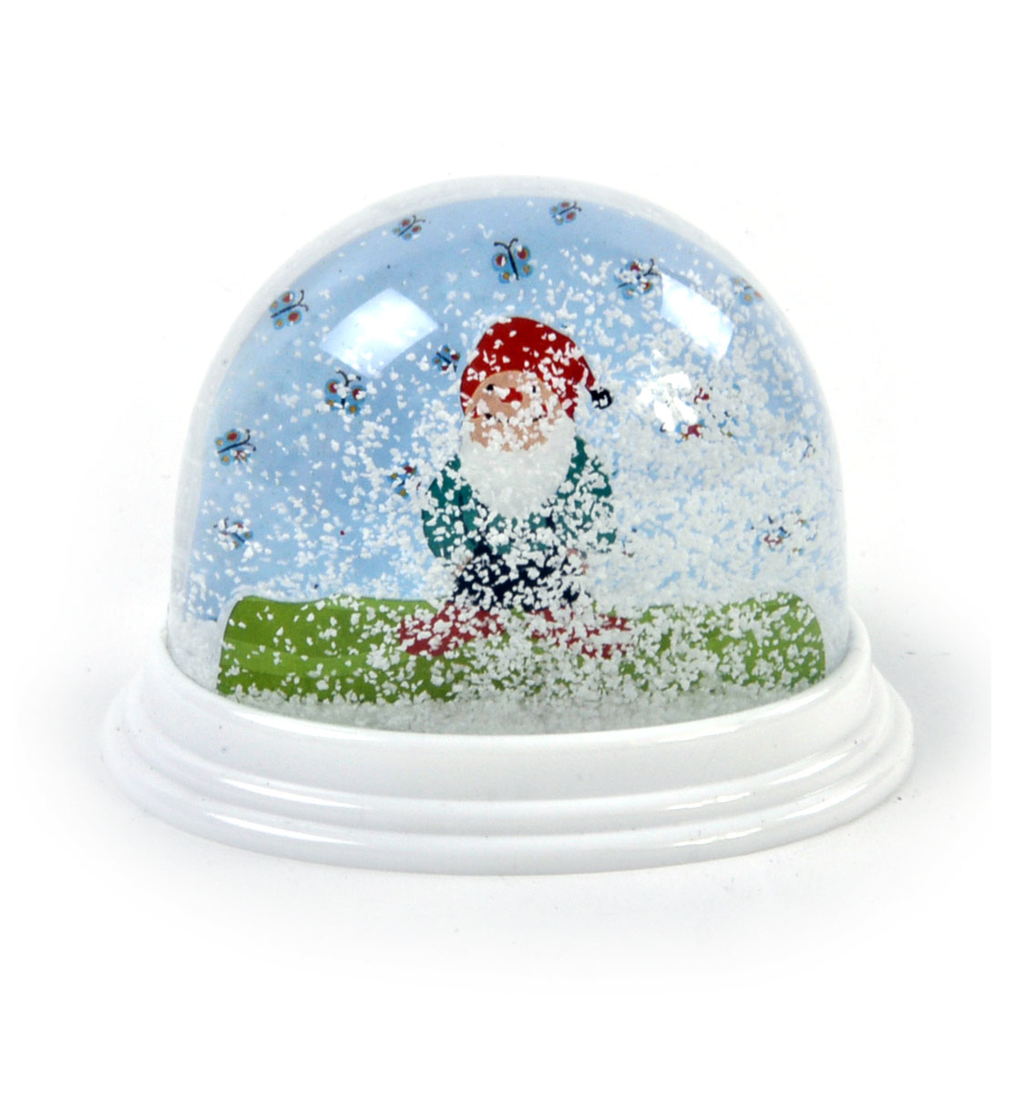 Garden gnome snow globe pink cat shop for Gnome 3 decoration fenetre
