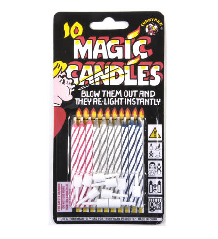 Magic Candles - You Can't Blow Them Out