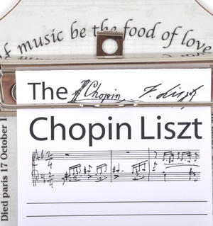 Chopin Liszt - Shopping List Memo Pad for Composer / Musician / Orchestra