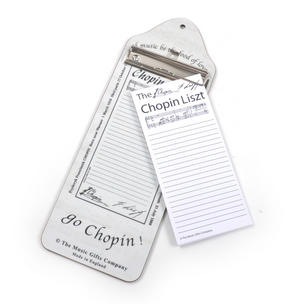 Chopin Liszt - Shopping List Memo Pad for Composer / Musician / Orchestra Thumbnail 2