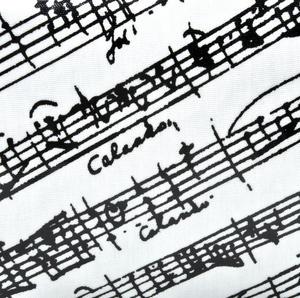 Music Manuscript Black & White Washbag /  Make Up Bag Thumbnail 2